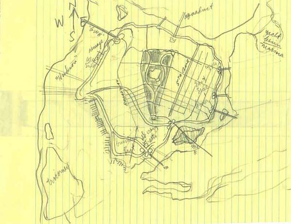 Brown的Gotham地圖初稿之一